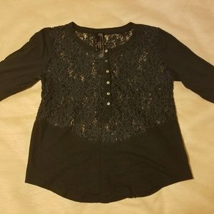 New Romantics Free People Lacey Blouse
